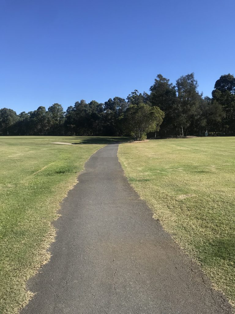 Pathway leading to dog training area