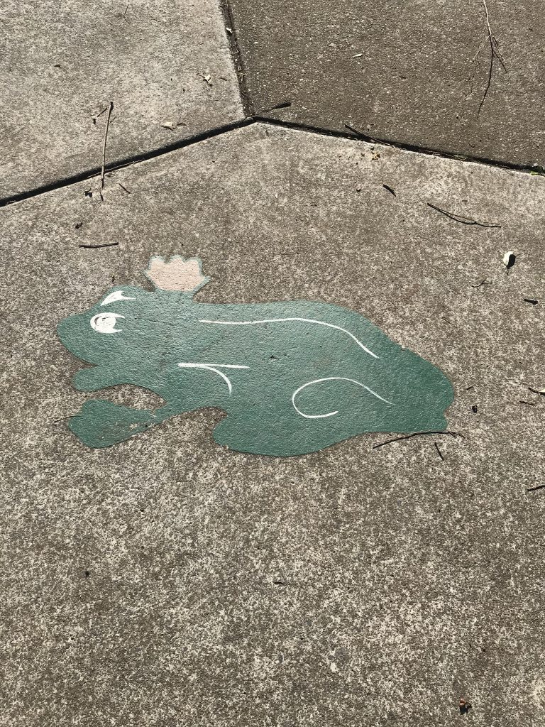 Frog Prince Stencil