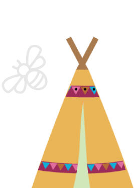 Tipi and Bee logo