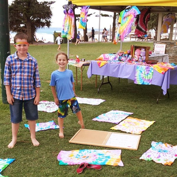 Tie-dye and park games A&H